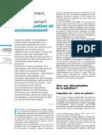 Mondialisation & Environnement