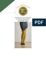 Knit Pattern Thigh High Footless Socks 70781AD