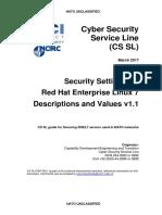 NU 1326 1.1 RHEL7 Descriptions and Values