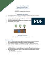 Lesson Plan of Types of Soil