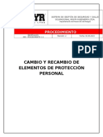 PROCEDIMIENTO CAMBIO Y RECAMBIO DE EPP