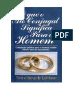 O que o ato conjugal significa opara o homem