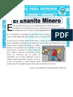 Ficha El Enanito Minero Para Cuarto de Primaria