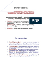 MMS Demand Forecasting