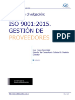 Iso 9001 2015  Proveedores