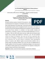 ENSAYO Aspectos Fisiológicos y Ecoambientales Del Duraznero (Prunus Pérsica L. Batsch)