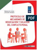 4 Protocolos de Mecanismos de Negociación y Solución Del Conflicto Penal Convertido