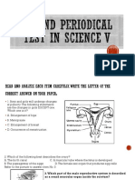 Second Periodical Test in Science V
