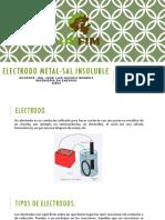 Electrodo Metal Sal Insoluble 1 1