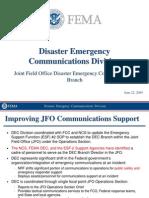 Carney - FEMA DEC Briefing - FCC Trng 6-23-09