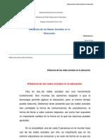 Influencia de Las Redes Sociales en La Educación_ENSAYO