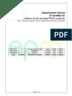 ET as ME01 01 Tuberia de Polietileno PEAD Acueducto