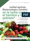 JEA.Biodiversidad agrícola,Biotecnologías y Bioética en la lucha contra el hambre y la pobreza
