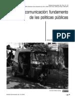 La comunicación fundamento de Políticas  publicas