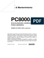 PC8000-6D SN 12064 Operation and Maintenance Manual Spanish