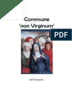 Vísperas  gregorianas Commune non Virginum