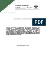Proyecto de Pliegos Licitacion Operacion de Servicios Tic Sena