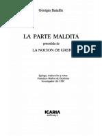 LA PARTE MALDITA - NOCIÓN DEL GASTO
