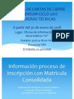 MATRICULA CONSOLIDADA 2018