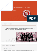 What is the Manager's Job