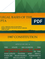 Legal Bases of PTA