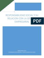 Ensayo Responsabilidad Social Empresarial y Su Relacion Con La Gestion Empresarial