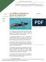 Los Delfines Entienden en Tareas de Cooperación