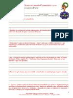 Desenvolvimento Comunitario - Especialidade - Relatorio