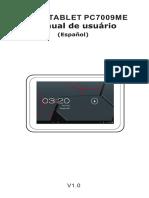 Spanish Manual for Tablet Titan 7009me-New