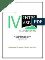 IV Entre Aspas_cadernos de Resumos