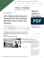 Rpp Fisika Smk Kelas x Kurikulum 2013 Revisi Materi Listrik Statis Dan Dinamis - Rpp Revisi 2018