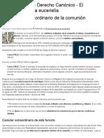 El Ministro Extraordinario de La Comunión - Iuscanonicum - Derecho Canónico en La Web