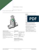 Fasani Pressure Seal Cast Gate Style b