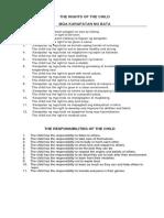 P2. 7 Level 1 Rights & Responsibilites of Children
