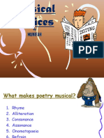 Musical Devices of Poetry