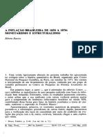 A Inflação Brasileira de 1850 a 1870- Monetarismo e Estruturalismo