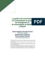 Hincapie Ochoa Cárdenas GC y La Comunicación en GI FELEFACS 2015