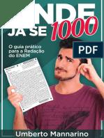 Onde Já Se 1000 - O Guia Prático Para a Redação Do ENEM - Umberto Mannarino