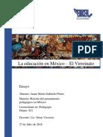 La Educación en México - El Virreinato