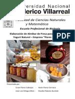 Elaboración de Almibar de Fresa Como Acompañante de Yogurt Natural