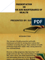 4)  PPT ON PROMOTION AND MAINTENANCE OF HEALTH.pptx