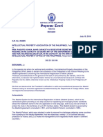Intellectual Property Association vs. Executive Secretary (G.R. No. 204605)