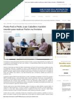 Ponta Porã e Pedro Juan Caballero Mantém Reunião Para Reativar Parlim Na Fronteira - REDENEWS MS