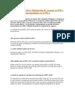 Decreto 4023 de 2011 Resumen