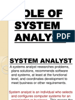 Roles of a System Analyst