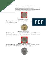 Lista Con Las Monedas de Los Países de América