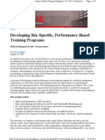 21 MC Dev Site Specific, Performance Based Training Programs Copy