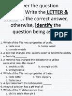 Quiz Acids&Bases