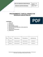 Pr- 598 Manejo de Residuos Industriales. Rev.01