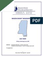 2019 July Mason Dixon GOP Gov Poll